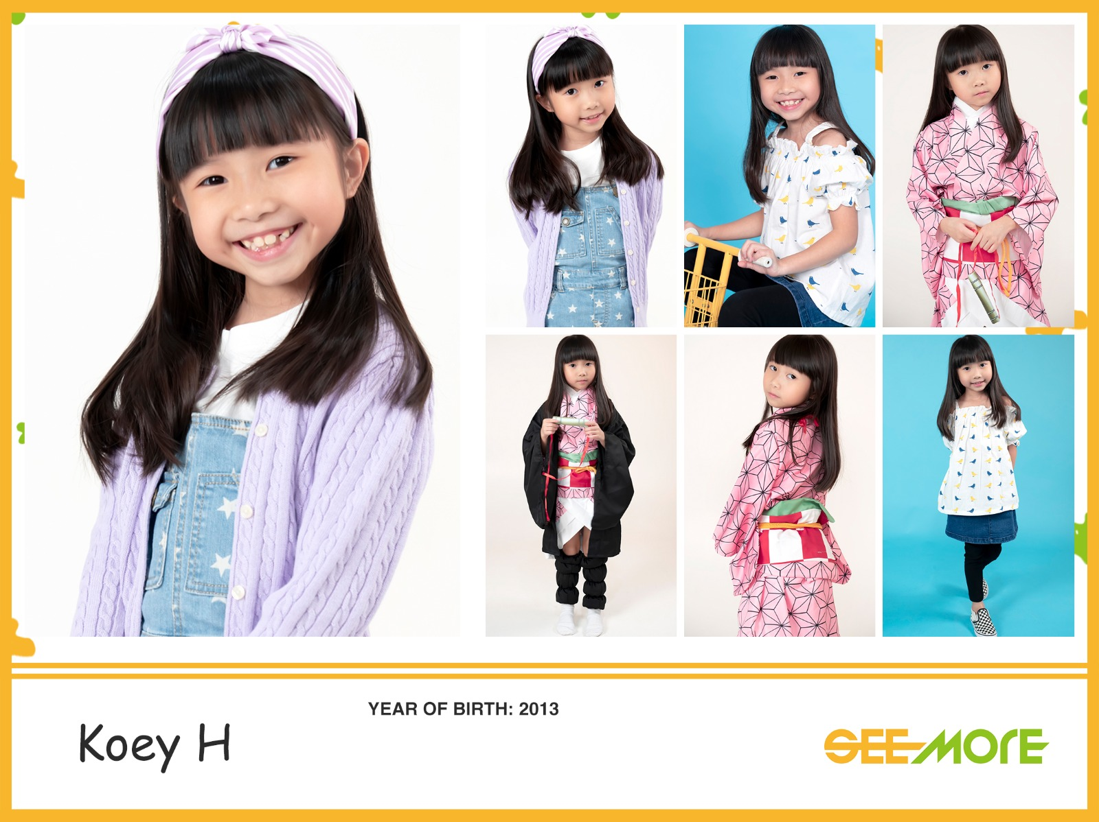 hong kong kids model comp card